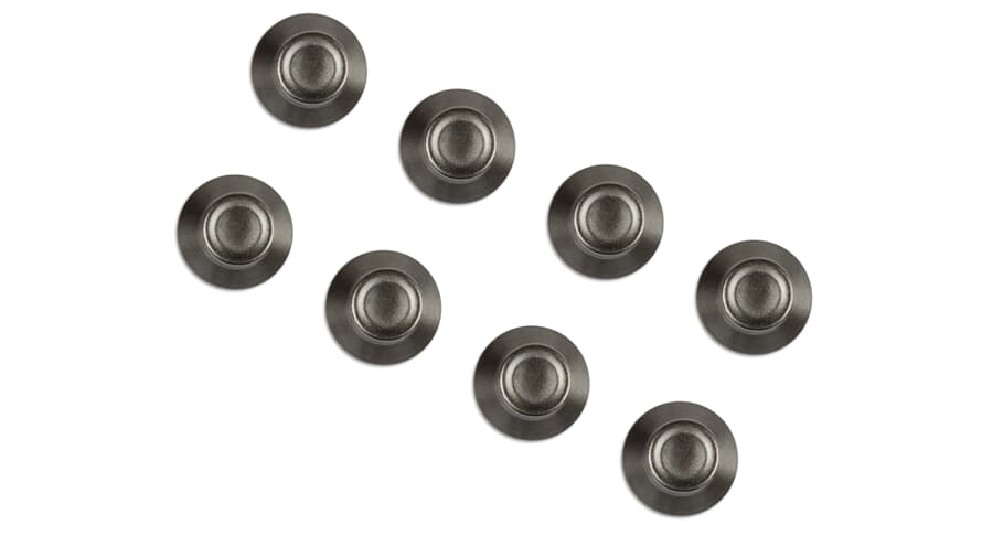 iCon Metal Knob Cap (Set of 8)