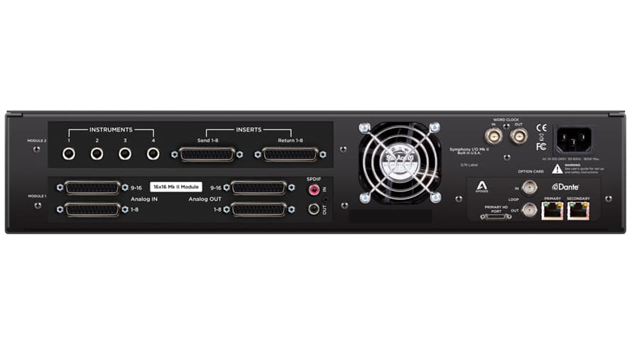 Apogee Symphony I/O MK II 16X16+8MP Dante